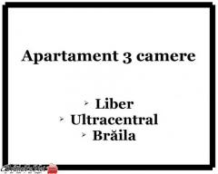 Apartament 3 camere, Braila, zona ultracentrala, proprietar